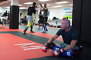 """UFC welterweight Donald """"Cowboy"""" Cerrone looks on during sparing at Jackson Wink MMA in Albuquerque, New Mexico on June 9, 2016."""