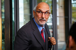 © Licensed to London News Pictures. 15/10/2015. London, UK. Alan Yentob leaving Portcullis House after giving evidence on Kids Company to the Commons Public Administration Committee in London on Thursday, 15 October 2015. Photo credit: Tolga Akmen/LNP