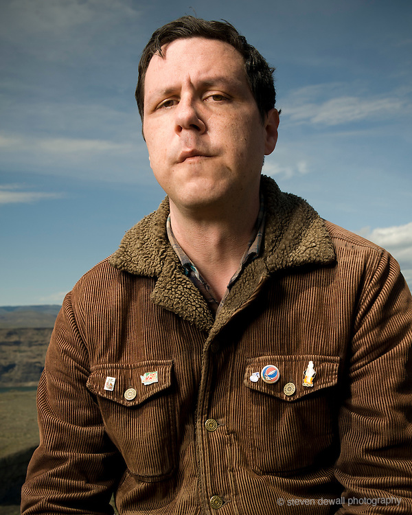 George, WA. - May 28th, 2012 Damien Jurado poses for a portrait backstage at the Sasquatch Music Festival in George, WA. United States