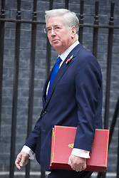 © Licensed to London News Pictures. 01/11/2016. London, UK. Defence Secretary Michael Fallon arrives on Downing Street for the weekly Cabinet meeting. Photo credit: Rob Pinney/LNP
