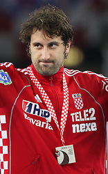 Best player of WC Igor Vori (9) of Croatia after the 21st Men's World Handball Championship 2009 Gold medal match between National teams of France and Croatia, on February 1, 2009, in Arena Zagreb, Zagreb, Croatia. France won 24:19 and became World Champion 2009.  (Photo by Vid Ponikvar / Sportida)