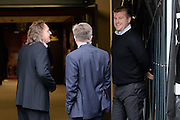 Milton Keynes Dons manager Karl Robinson chats to Chairman Pete Winkleman and executive director Andrew Cullen before  the EFL Sky Bet League 1 match between Milton Keynes Dons and Southend United at stadium:mk, Milton Keynes, England on 22 October 2016. Photo by Dennis Goodwin.