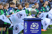 The 1872 Cup before the Guinness Pro 14 2017_18 match between Edinburgh Rugby and Glasgow Warriors at Myreside Stadium, Edinburgh, Scotland on 28 April 2018. Picture by Kevin Murray.