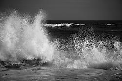 Waves crashing on the shore in East Hampton, New York
