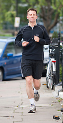 Jeremy Hunt, the Minister for Culture & Media on his morning run before  appearing at the Leveson Inquiry  in London, Thursday, 31st May 2012 . Photo by: i-Images
