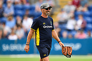 Matthew Maymard head coach of Glamorgan thread of todays game<br /> <br /> <br /> Photographer Craig Thomas/Replay Images<br /> <br /> Vitality Blast T20 - Round 4 - Glamorgan v Middlesex - Friday 26th July 2019 - Sophia Gardens - Cardiff<br /> <br /> World Copyright © Replay Images . All rights reserved. info@replayimages.co.uk - http://replayimages.co.uk