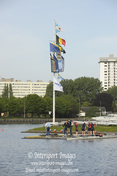 Gent, BELGIUM,  General views, Koninklijke Roeiveniging, Sport Club, Gent,  Boathouse and  Boating stages, at  the International Belgian Rowing Championships, Saturday 09/05/2009, [Mandatory Credit. Peter Spurrier/Intersport Images]