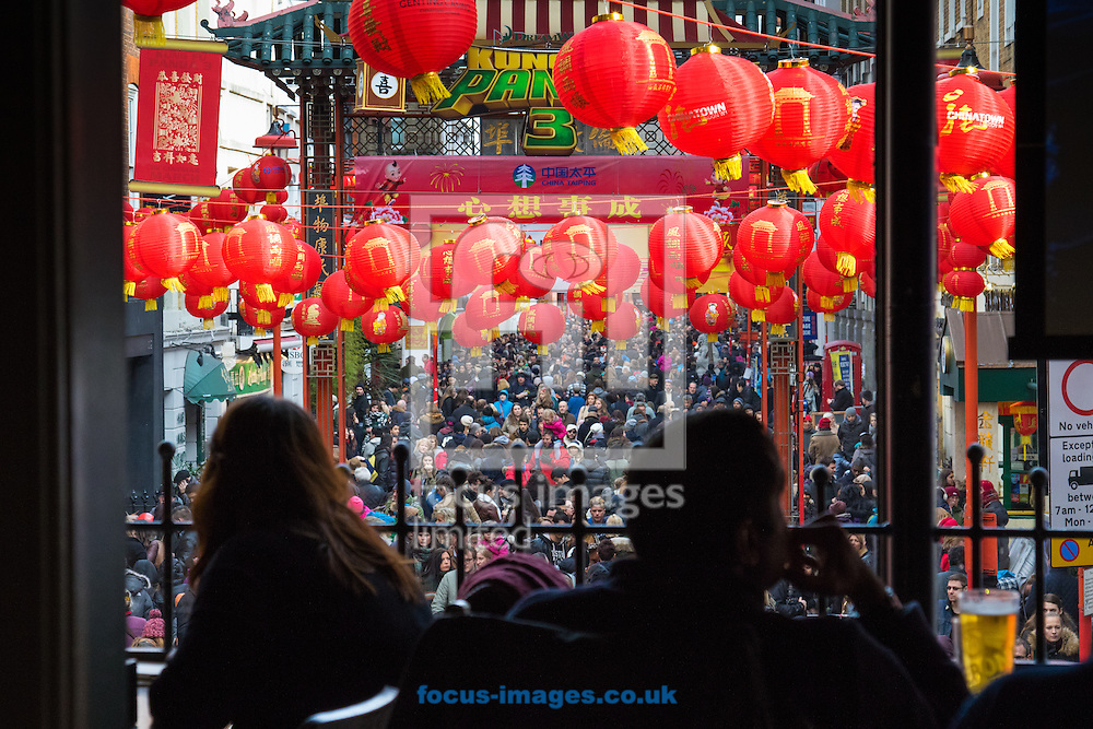Thousands of Londoners help the capital&rsquo;s Chinese population celebrate their new year, The Year of The Monkey in Chinatown, London.<br /> Picture by Paul Davey/Focus Images Ltd +447966 016296<br /> 14/02/2016