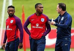 England Assistant Coach Steve Holland talks with Daniel Sturridge and Jermaine Defoe - Mandatory by-line: Matt McNulty/JMP - 29/08/2017 - FOOTBALL - St George's Park National Football Centre - Burton-upon-Trent, England - England Training and Press Conference