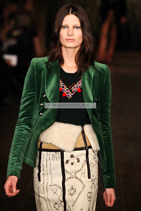 Ava Smith walks down runway for F2012 Altuzarra's collection in Mercedes Benz fashion week in New York on Feb 10, 2012 NYC's