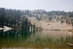 Emerald Lake, Lassen Volcanic National Park, California, USA.