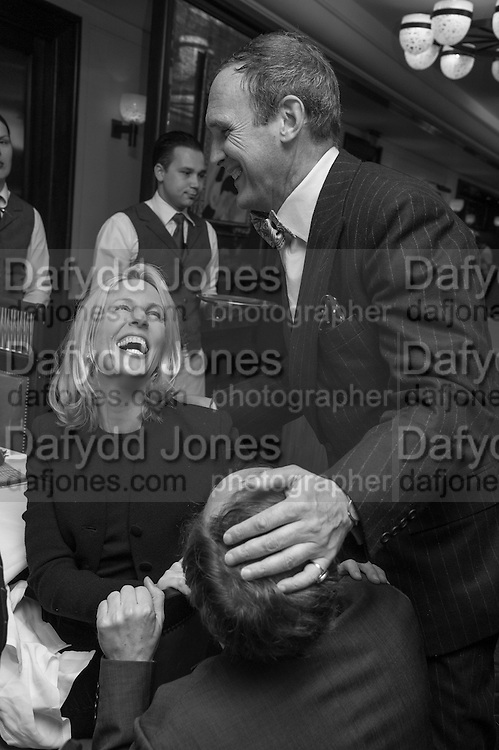 SYDNEY FINCH; A.A.GILL, Vanity Fair Lunch hosted by Graydon Carter. 34 Grosvenor Sq. London. 14 May 2013