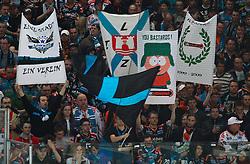 23.03.2010, Albert Schultz Halle, Wien, AUT, EBEL, Vienna Capitals vs Black Wings Linz, im Bild Fans der Black Wings, EXPA Pictures © 2010, PhotoCredit: EXPA/ T. Haumer / SPORTIDA PHOTO AGENCY