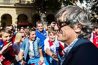 Osasuna's coach, Enrique Martin during the celebration for promotion to La Liga BBVA on the streets of Pamplona . 19,06,2016. (ALTERPHOTOS/Rodrigo Jimenez)