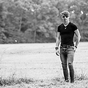 Musician Justin Taylor Moore at his home in Maryland on August 31, 2016 (Photo by Richie Downs).