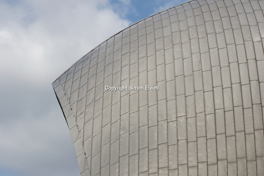 Detail from a caison in the Thames Barrier at Woolwich seen in passing