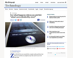The Telegraph; Siri on smart phone