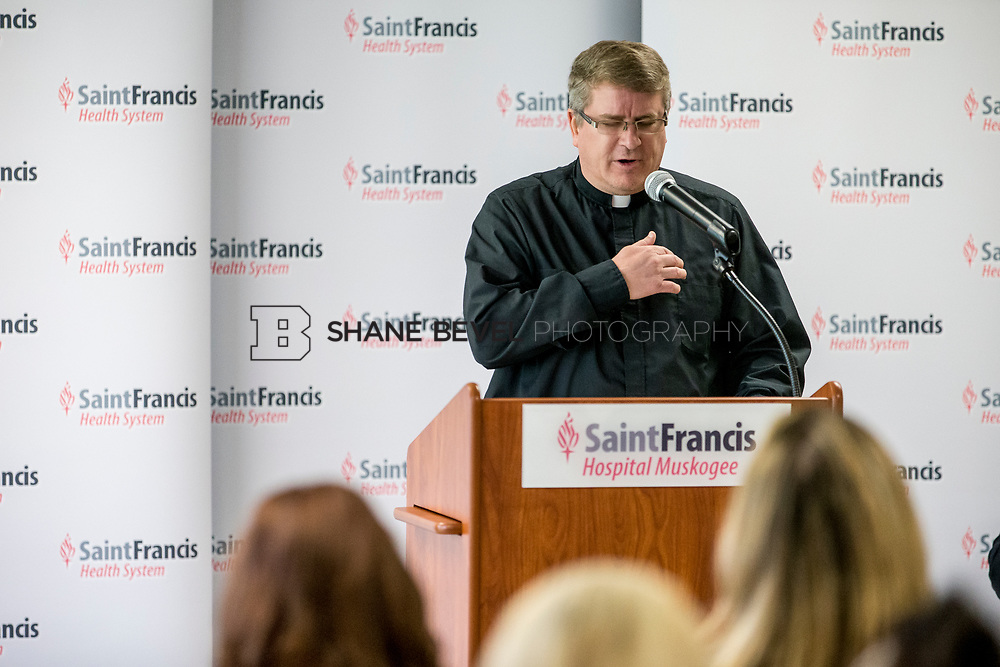8/8/17 10:02:31 AM --  Saint Francis Health System presents a check to Connors State for their nursing school. <br /> <br /> Photo by Shane Bevel