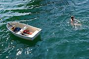 Bellingham Bay, WA boat and diver