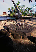 Konane: Hawaiian Checker game,  Pu'uhonua O Honaunau National Park, City of Refuge, Island of Hawaii, Hawaii, USA