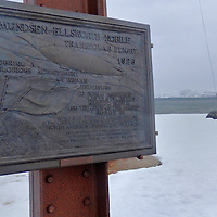 Alberto Carrera, Amundsen-Ellsworth-Nobile, Transpolar Flight,1926, Tower Fligth, Ny-Alesund, Research Station, Research Town, Kongsfjord, Oscar II Land, Arctic, Spitsbergen, Svalbard, Norway, Europe