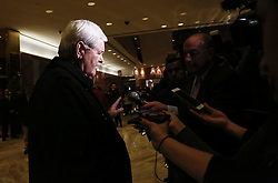 November 21, 2016 - New York, New York, United States of America - Former Speaker of the United States House of Representatives Newt Gingrich (Republican of Georgia) speaks to journalists following a meeting with US President-elect Donald Trump, in the Trump Tower, November 21, 2016, in New York, New York..Credit: Aude Guerrucci / Pool via CNP (Credit Image: © Aude Guerrucci/CNP via ZUMA Wire)