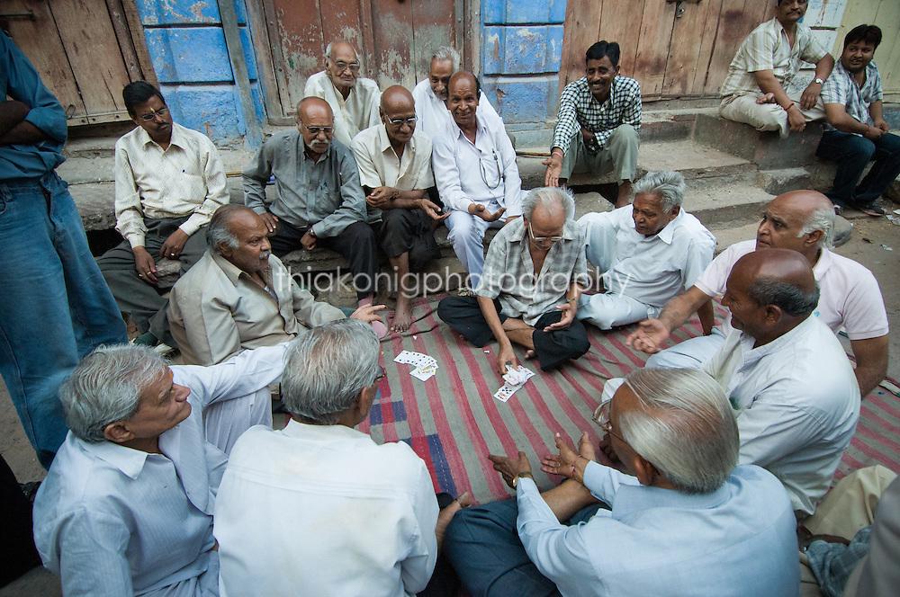 Men playing cards, Jodhpur, India