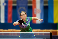 Aleksandra Vovk during Qualification match between National teams of Slovenia and Ukraina for ITTF European Championship 2019, on May 22, 2018 in Otocec, Slovenia. Photo by Urban Urbanc / Sportida