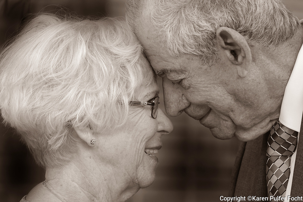 Elderly newly weds.