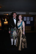 Charles Crichton-Stuart and Eleanor Mason Brown. The  Royal Caledonian Ball in aid of The Royal Caledonian Ball Trust held at The Grosvenor House Hotel, Park Lane, London W1.  28  April 2005. ONE TIME USE ONLY - DO NOT ARCHIVE  © Copyright Photograph by Dafydd Jones 66 Stockwell Park Rd. London SW9 0DA Tel 020 7733 0108 www.dafjones.com