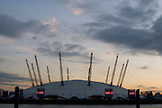 Sunset over the Docklands and the Dome, London