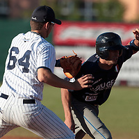 05 June 2010: Quentin Becquey of Rouen tags out an unidentified player of Bologna during the 2010 Baseball European Cup match won 10-0 by Fortitudo Bologna over the Rouen Huskies, at the AVG Arena, in Brno, Czech Republic.