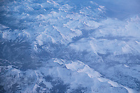 Aerial Photo of Sierra Nevada Mountains in Winter, California