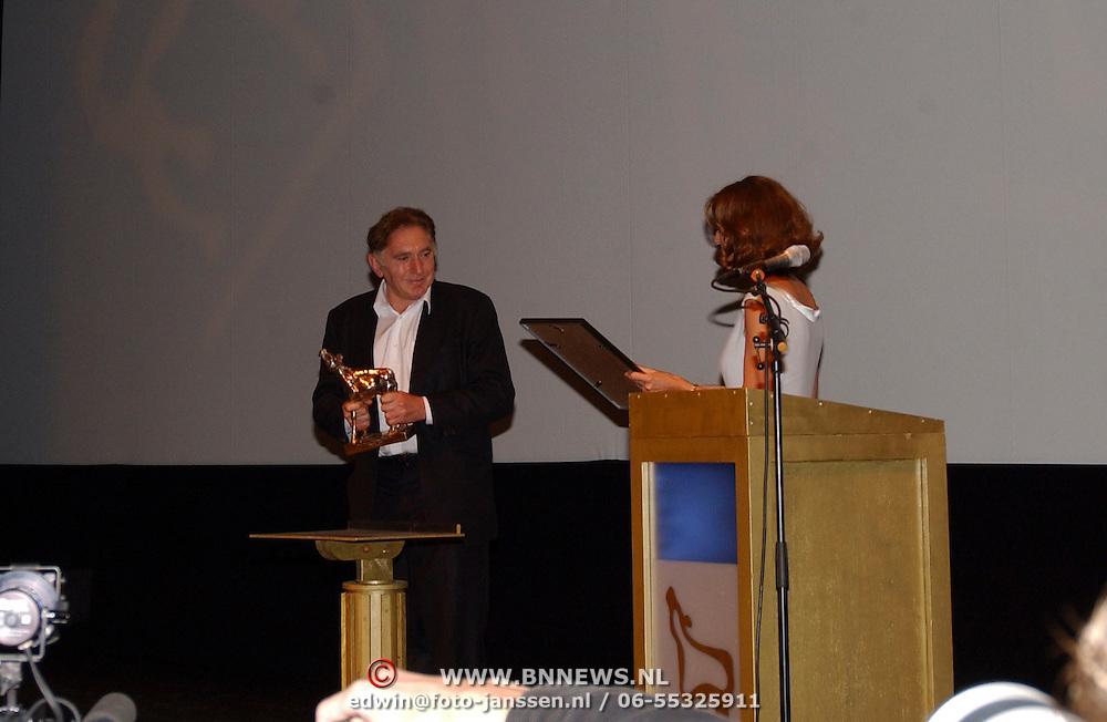 Opening Utrechts Filmfestival 2003, premiere Phileine zegt sorry, Jan Declair krijgt Gouden Kalf