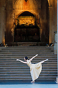Zwinger, Zwingerkonzerte, Ballett vor dem Wallpavillon, Dresden, Sachsen, Deutschland.|.Zwinger, Ballett in fron of wall pavillon, open air, Dresden, Germany