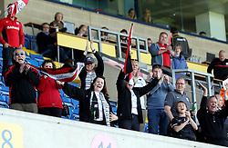 Saracens fans - Photo mandatory by-line: Robbie Stephenson/JMP - Mobile: 07966 386802 - 16/05/2015 - SPORT - Rugby - Oxford - Kassam Stadium - London Welsh v Saracens - Aviva Premiership