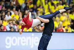 R'n'R dance during handball match between RK Gorenje and RK Celje Pivovarna Lasko in 5th Round of 1st NLB Leasing Slovenian Champions League 2015/16, on May 11, 2016, in Red arena, Velenje, Slovenia. Photo by Vid Ponikvar / Sportida