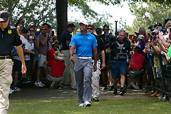 September 22, 2018 - Atlanta, Georgia, United States - Tiger Woods approaches the first tee during the third round of the 2018 TOUR Championship. (Credit Image: © Debby Wong/ZUMA Wire)