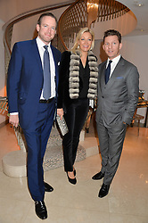 Left to right, RUPERT ADAMS, NADJA SWAROVSKI and NICK CANDY at the Fortune Forum Club dinner in the presence of HSH Prince Albert II of Monaco held at The Dorchester, Park Lane, London on 15th January 2014.