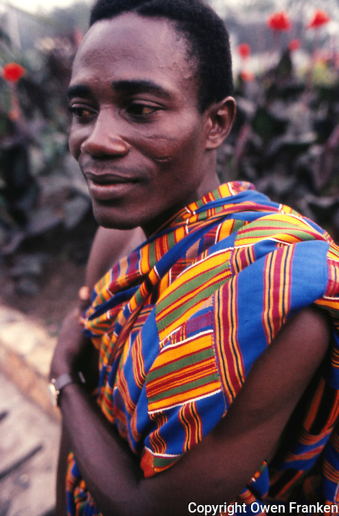 Ghana-Ashanti man with Kente cloth