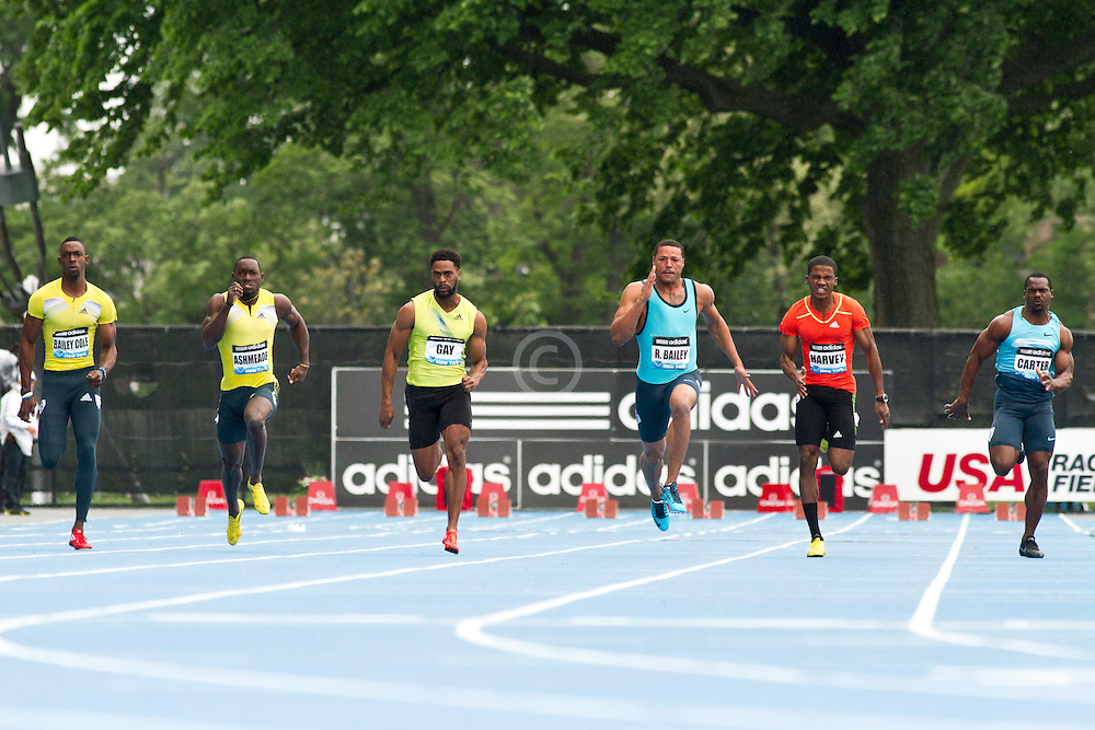 adidas Grand Prix Diamond League professional track & field meet: mens 100  meter final, Tyson Gay