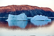 Camp Ataa, Greenland. The Ataa camp is located in northern Greenland at about five hours sailing from Ilulissat, in a beautiful bay that is the ideal base for excursions to the nearby Eqi Sermia glacier,