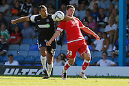 Picture by David Horn/Focus Images Ltd +44 7545 970036.18/08/2012.Chris Barker of Southend United and Padraig Amond of Accrington Stanley during the npower League 2 match at Roots Hall, Southend.