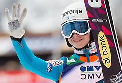 ROGELJ Spela of Slovenia competes during FIS Ski jumping World Cup Ladies 15th competition Ljubno 2013 on February 17, 2013 in Ljubno ob Savinji, Slovenia. (Photo By Vid Ponikvar / Sportida)