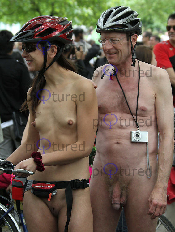 7th London World Naked Bike Ride, London, UK, 12 June 2010. For piQtured Sales contact: Ian@piqtured.com Tel: +44(0)791 626 2580 (Picture by Richard Goldschmidt/Piqtured)