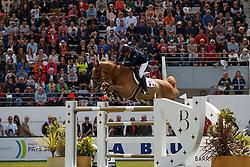 Angot Cedric, FRA, Saxo de la Cour<br /> FEI Nations Cup presented by Longines<br /> Longines Jumping International de La Baule 2017<br /> © Hippo Foto - Dirk Caremans<br /> 12/05/2017