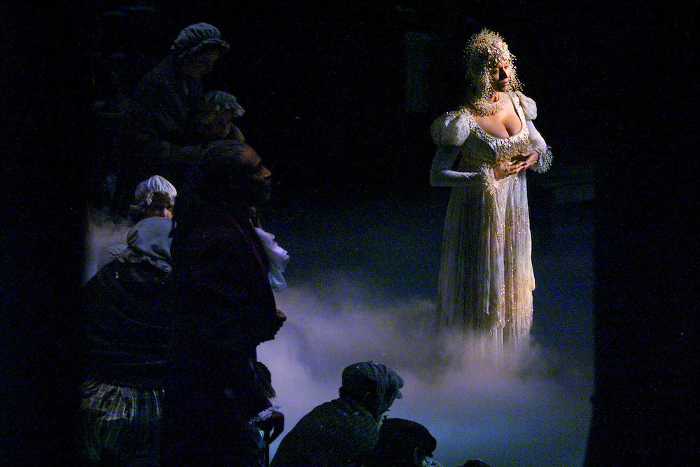 Megan McFarland plays the ghost of Christmas past in the Alliance Theater Company's 'Christmas Carol' during dress rehearsal