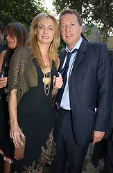 CLEMENTINE HAMBRO and ORLANDO FRASER at the Tatler Summer Party 2006 in association with Fendi held at Home House, Portman Square, London W1 on 29th June 2006.<br />