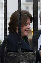 © London News Pictures. 18/12/2012. London, UK.   Secretary of State for Culture, Media and Sport Maria Miller MP arriving on Downing Street, in London for cabinet meeting on December 18, 2012 Photo credit: Ben Cawthra/LNP.