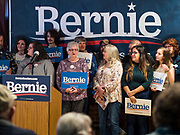 25 OCTOBER 2019 - NEWTON, IOWA: Sen. People wait for US Senator Bernie Sanders (I-VT) at a Sanders campaign event in Newton. Sen. Sanders campaigned at a closed Maytag factory in Newton Friday afternoon. He used the event to call for an end to corporate greed, to promote his Medicare For All plan, and to outline his plan to make higher education affordable and available to all who want it. Sanders is seeking the Democratic nomination for the US Presidency. Iowa holds the first selection event of the presidential election cycle. The Iowa Caucuses are on February 3, 2020.             PHOTO BY JACK KURTZ